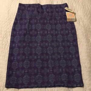 Lularoe purple skirt NWT large